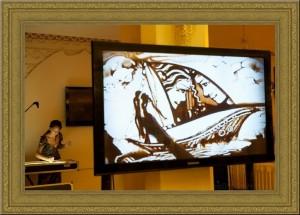 Шоу Песочная анимация на праздник в Одессе