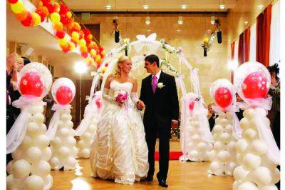 Оформление свадьбы в Одессе воздушными шарами