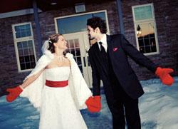 Организация зимней свадьбы в Одессе